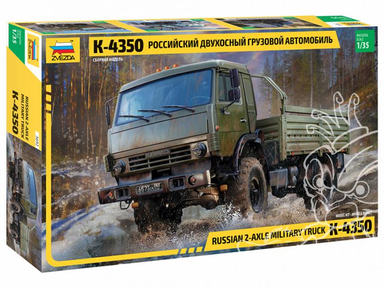 Zvezda maquette militaire 3692 Camion russe à deux essieux K-4350 1/35