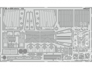 Eduard photodécoupe avion 32465 Extérieur P-40M Trumpeter 1/32