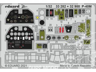Eduard photodécoupe avion 33282 Zoom intérieur P-40M Trumpeter 1/32