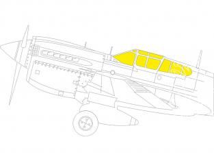 Eduard Express Mask JX275 P-40M Trumpeter 1/32