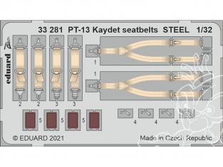 Eduard photodécoupe avion 33281 Harnais métal PT-13 Kaydet Roden 1/32