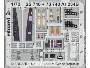 Eduard photodecoupe avion 73740 Amélioration Arado Ar 234B Hobby 2000 / Dragon 1/72