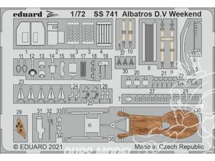 Eduard photodecoupe avion SS741 Zoom amélioration Albatros D.V Weekend Eduard 1/72