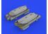 Eduard kit d'amelioration brassin 632168 Brimstone w/ AGML III rack 1/32