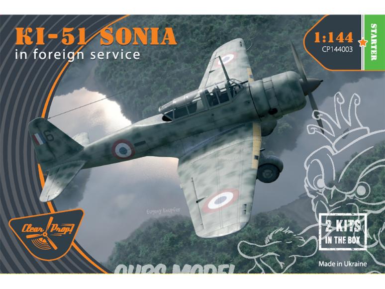 Clear Prop maquette avion CP144003 Ki-51 Sonia (deux kits dans la boîte) en service extérieur STARTER KIT 1/144