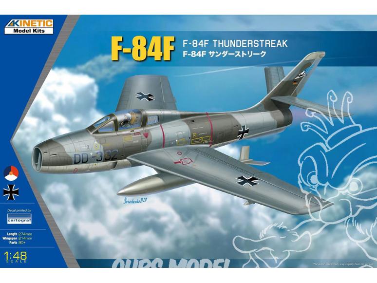 Kinetic maquette avion K48068 F-84F Thunderstreak 1/48