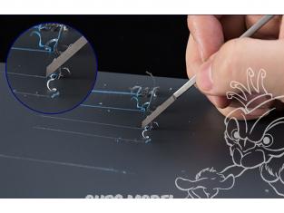 Border model outillage BD0007-1.5 Pointe à graver en Tungsten 1mm