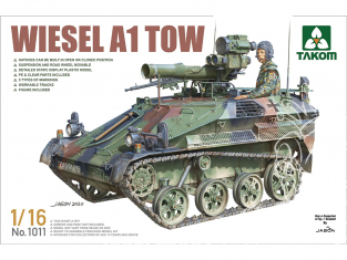 Takom maquette militaire 1011 Wiesel A1 Tow 1/16