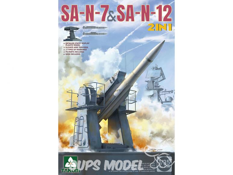Takom maquette militaire 2136 SA-N-7 & SA-N-12 2en1 1/35