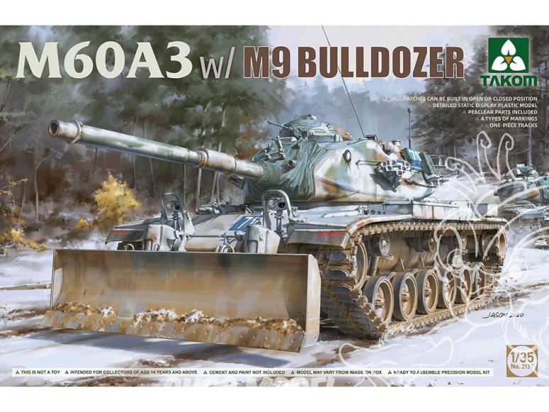 Takom maquette militaire 2137 M60A3 avec Lame Bulldozer M9 1/35