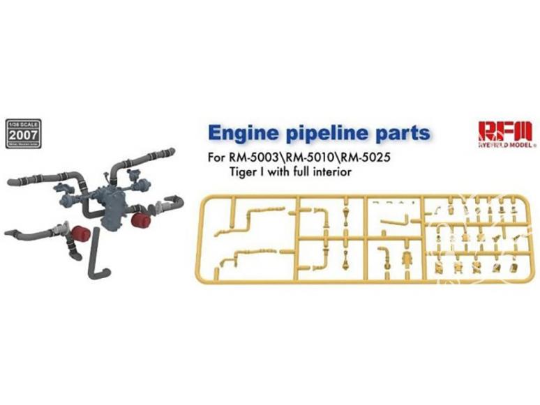 Rye Field Model maquette militaire 2007 Durites moteur pour Tigre I 1/35