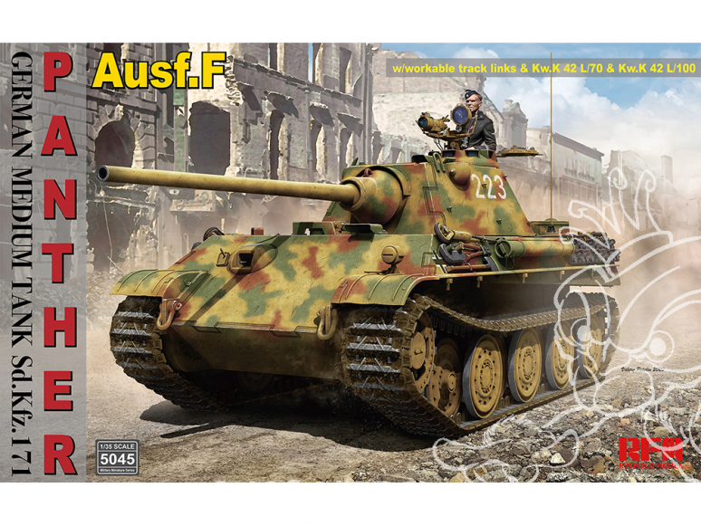 Rye Field Model maquette militaire 5045 Sd.Kfz.171 Panther Ausf.F 1/35