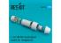 ResKit kit d'amelioration Avion RSU72-0088 Tuyère fermée F-16 F100-PW pour kit Hasegawa 1/72