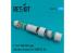 ResKit kit d'amelioration Avion RSU72-0089 Tuyère ouverte F-16 F100-PW pour kit Hasegawa 1/72