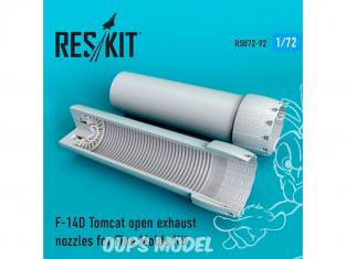 ResKit kit d'amelioration Avion RSU72-0092 Tuyère ouverte F-14D Tomcat pour kit Fine Molds 1/72