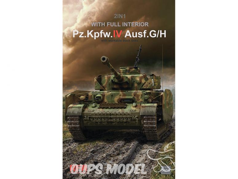 Rye Field Model maquette militaire 5055 Panzerkampfwagen IV Ausf.G/H Intérieur complet 1/35