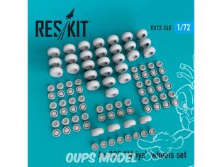 ResKit kit d'amelioration Avion RS72-0265 Jeu de roues An-225 Mriya pour kit Modelsvit 1/72