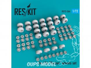 ResKit kit d'amelioration Avion RS72-0264 Jeu de roues An-124 Ruslan pour kit Modelsvit 1/72