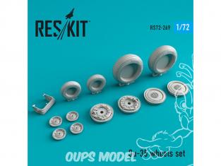 ResKit kit d'amelioration Avion RS72-0269 Jeu de roues Su-35 pour kit GWH, Hasegawa, Zvezda 1/72
