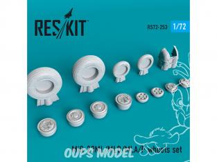 ResKit kit d'amelioration Avion RS72-0253 Jeu de roues MiG-23 (ML / MLD / MLA / P) pour kit GWH, Hasegawa, Zvezda 1/72