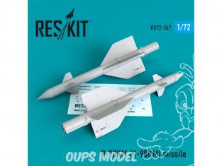 ResKit kit d'amelioration Avion RS72-0267 Missile R-98KM (K-98KM) (2 pieces) 1/72