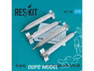 ResKit kit d'amelioration Avion RS72-0180 Missile S-24 avec APU-68 (4 pieces) 1/72