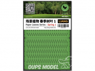 Liang Model 0141 Printemps 1 - Serie feuilles en papier 1/32 - 1/35 - 1/48