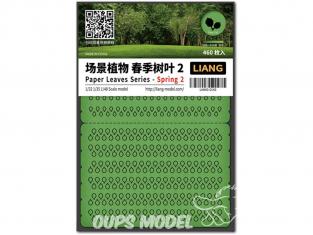 Liang Model 0142 Printemps 2 - Serie feuilles en papier 1/32 - 1/35 - 1/48