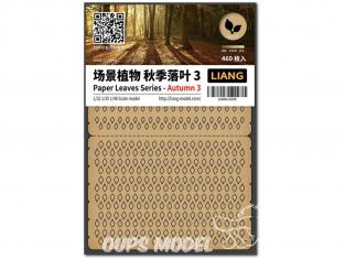 Liang Model 0145 Automne 3 - Serie feuilles en papier 1/32 - 1/35 - 1/48