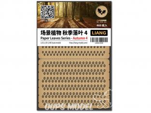 Liang Model 0146 Automne 4 - Serie feuilles en papier 1/32 - 1/35 - 1/48