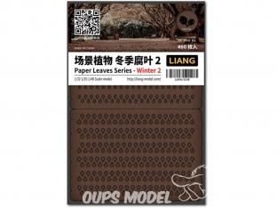 Liang Model 0148 Hiver 2 - Serie feuilles en papier 1/32 - 1/35 - 1/48