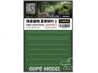 Liang Model 0150 Eté 2 - Serie feuilles en papier 1/32 - 1/35 - 1/48