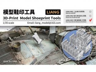 Liang Model 0403 Empreintes de bottes modernes Chine PLA 1/35