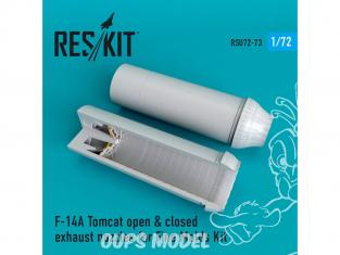 ResKit kit d'amelioration Avion RSU72-0073 Tuyère ouverte ou fermées F-14A Tomcat pour set Fine Molds 1/72
