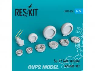 ResKit kit d'amelioration Avion RS72-0256 Jeu de roues Su-27 late kit Revell, Hasegawa, Zveada, Trumpeter, ICM, Airfix 1/72
