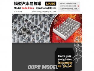 Liang Model 0412 Canettes Soda 2000 - 2020 avec boites en carton 1/35