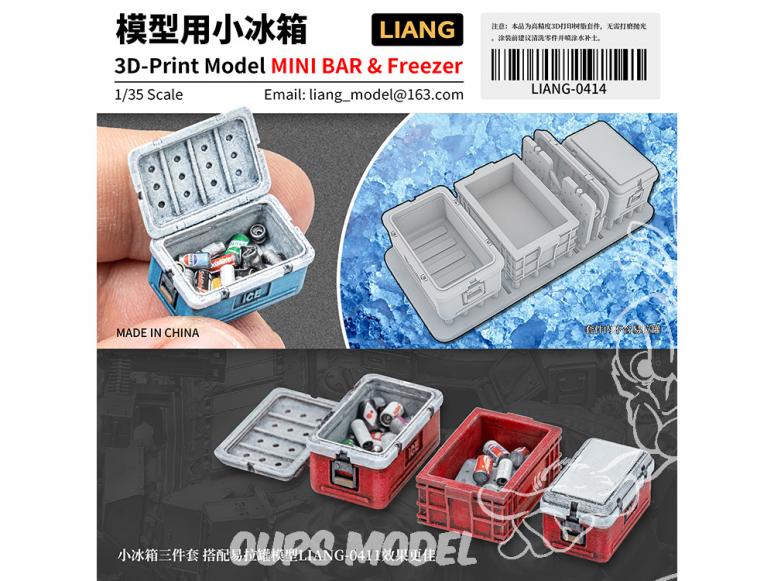 Liang Model 0414 Mini glacière (vide) 1/35