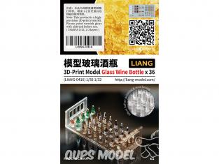 Liang Model 0416 Bouteilles de vin x36 1/35 - 1/32