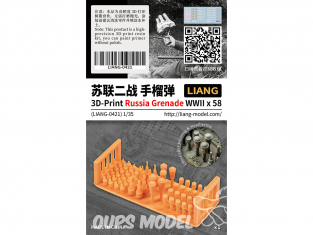 Liang Model 0421 Grenades Russes WWII x58 1/35