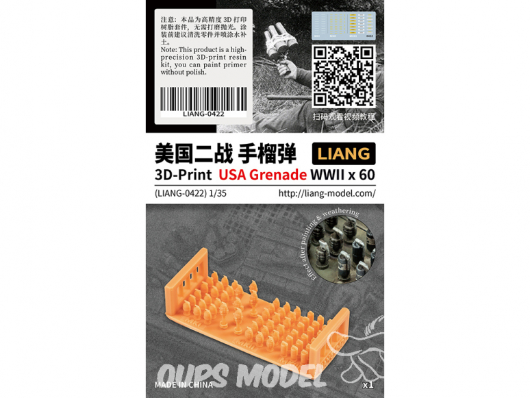 Liang Model 0422 Grenades USA WWII x60 1/35