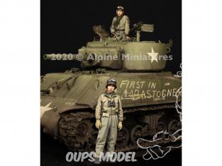 Alpine figurine 35286 Set de Commandants de char US WWII 1/35