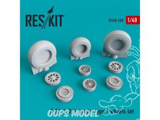 ResKit kit d'amelioration Avion RS48-0260 Jeu de roues B-26 (A-26) Invader type 1 1/48