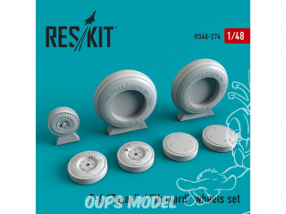 ResKit kit d'amelioration Avion RS48-0274 Jeu de Roues en résine Texan T-6 1/48