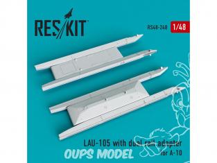 ResKit kit d'amelioration Avion RS48-0248 LAU-105 avec adaptateur à double rail 2 piéces 1/48