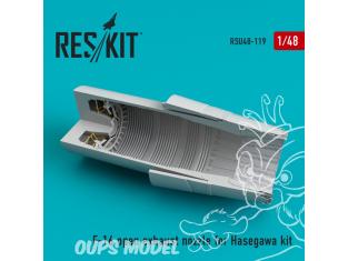 ResKit kit d'amelioration Avion RSU48-0119 Tuyère ouverte F-16 (F100-PW) pour kit Hasegawa 1/48