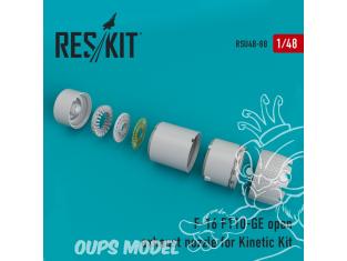 ResKit kit d'amelioration Avion RSU48-0088 Tuyère ouverte F-16 (F110-GE) pour kit Kinetic 1/48