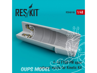 ResKit kit d'amelioration Avion RSU48-0086 Tuyère ouverte F-16 (F100-PW) pour kit Kinetic 1/48