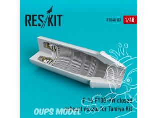 ResKit kit d'amelioration Avion RSU48-0083 Tuyère fermée F-16 (F100-PW) pour kit Tamiya 1/48