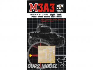 AFV CLUB maquette militaire AG35010 M3A3 LIGHT TANK EXTRA DETAIL SET PHOTO LAITON GRAVÉ (KIT DE CONVERSION) 1/35