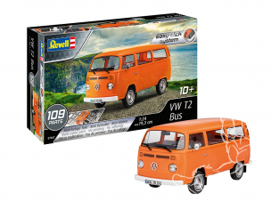 Revell maquette voiture 07667 VW T2 Bus Easy clic 1/24